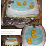 Marzipan Duckies in the Bathtub for Charlotte Lee Going Away party